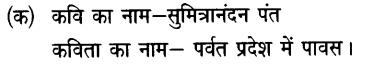 Chapter Wise Important Questions CBSE Class 10 Hindi B - पर्वत प्रदेश में पावस 26