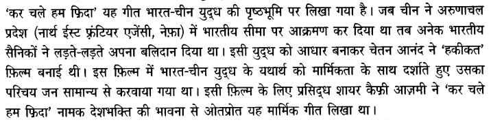 Chapter Wise Important Questions CBSE Class 10 Hindi B - कर चले हम फ़िदा 2