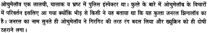 Chapter Wise Important Questions CBSE Class 10 Hindi B - गिरगिट 48