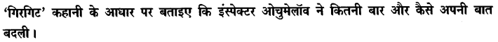 Chapter Wise Important Questions CBSE Class 10 Hindi B - गिरगिट 62