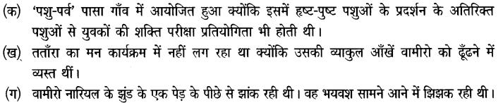 Chapter Wise Important Questions CBSE Class 10 Hindi B - तताँरा-वामीरो कथा 38