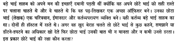 Chapter Wise Important Questions CBSE Class 10 Hindi B - बड़े भाई साहब 66