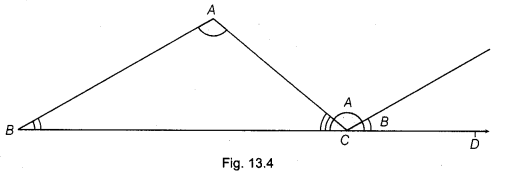 NCERT Class 9 Maths Lab Manual - Verify Exterior Angle Property of a Triangle 4