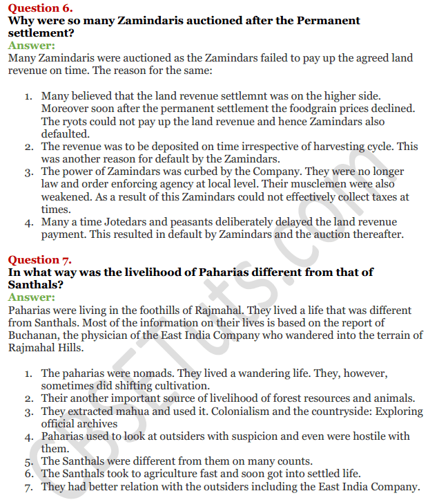 NCERT Solutions For Class 12 History Chapter 10 Colonialism and the Countryside 4