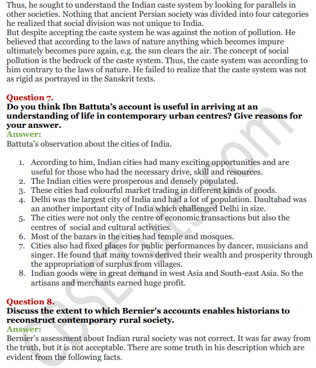 NCERT Solutions For Class 12 History Chapter 5 Through the Eyes of Travellers Perceptions of Society 4