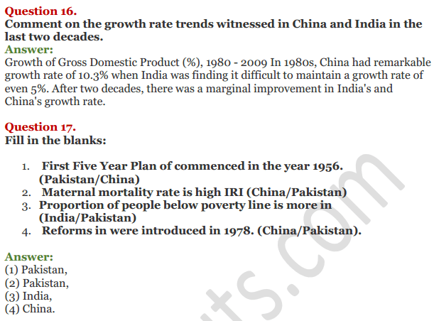 NCERT Solutions for Class 11 Chapter 10 Comparative Development Experience of India with its Neighbours 11