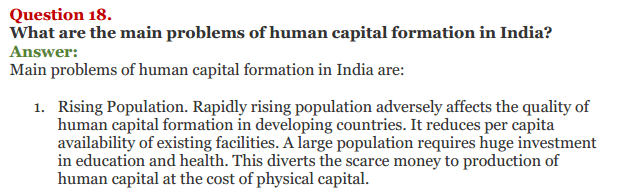 NCERT Solutions for Class 11 Chapter 5 Human Capital Formation in India IMG7