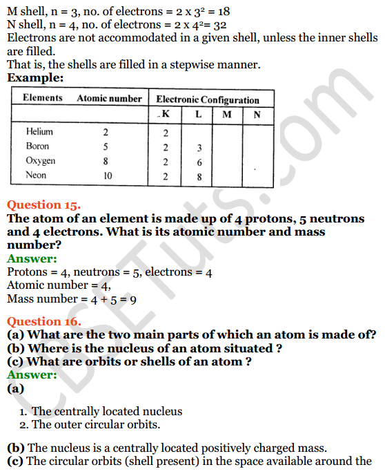 Selina Concise Chemistry Class 8 ICSE Solutions Chapter 4 Atomic Structure 9