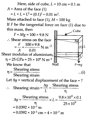 NCERT Solutions for Class 11 Physics Chapter 9 Mechanical Properties of Solids 6