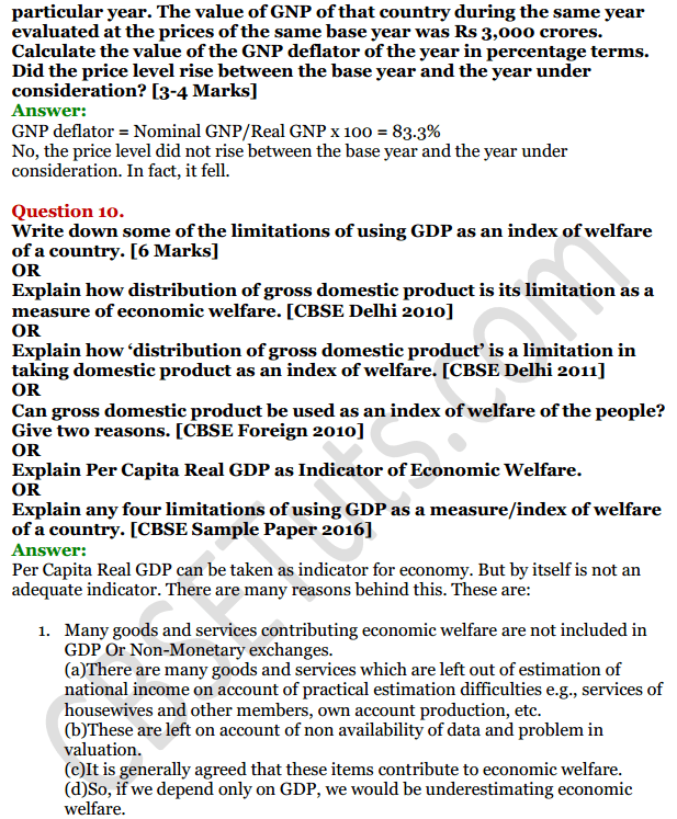 NCERT Solutions for Class 12 Macro Economics Chapter 2 National Income and Relation 5