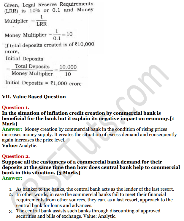 NCERT Solutions for Class 12 Macro Economics Chapter 4 Banking 24