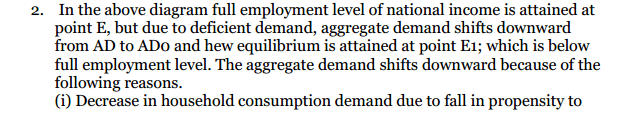 NCERT Solutions for Class 12 Macro Economics Chapter 7 Excess Demand and Deficient Demand 11
