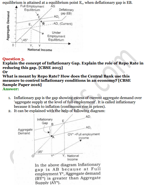 NCERT Solutions for Class 12 Macro Economics Chapter 7 Excess Demand and Deficient Demand 13