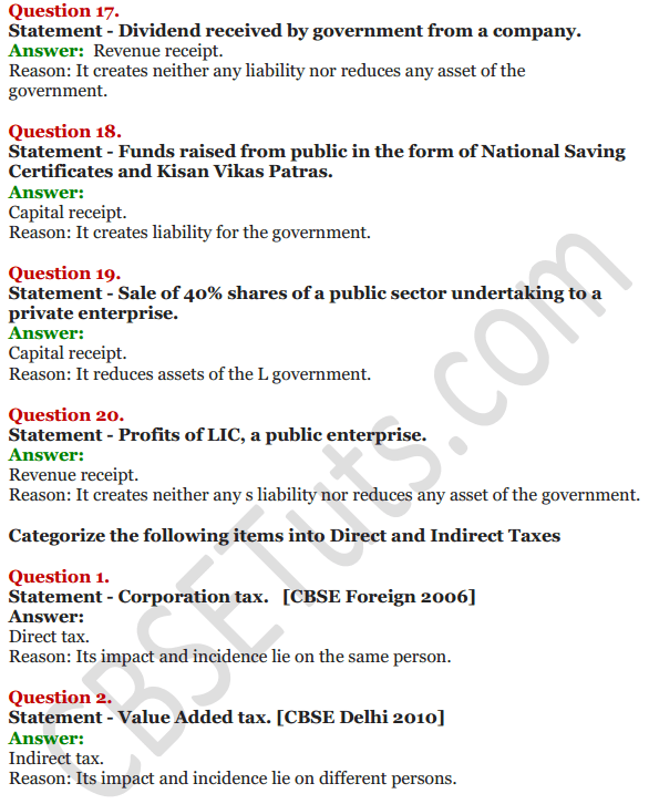 NCERT Solutions for Class 12 Macro Economics Chapter 8 Government Budget and the Economy 33