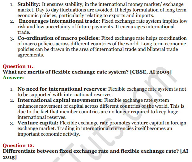 NCERT Solutions for Class 12 Macro Economics Chapter 9 Foreign Exchange Rate 18