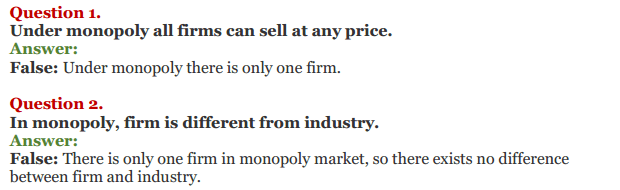 NCERT Solutions for Class 12 Micro Economics Chapter 11 Non-Competitive Market 16