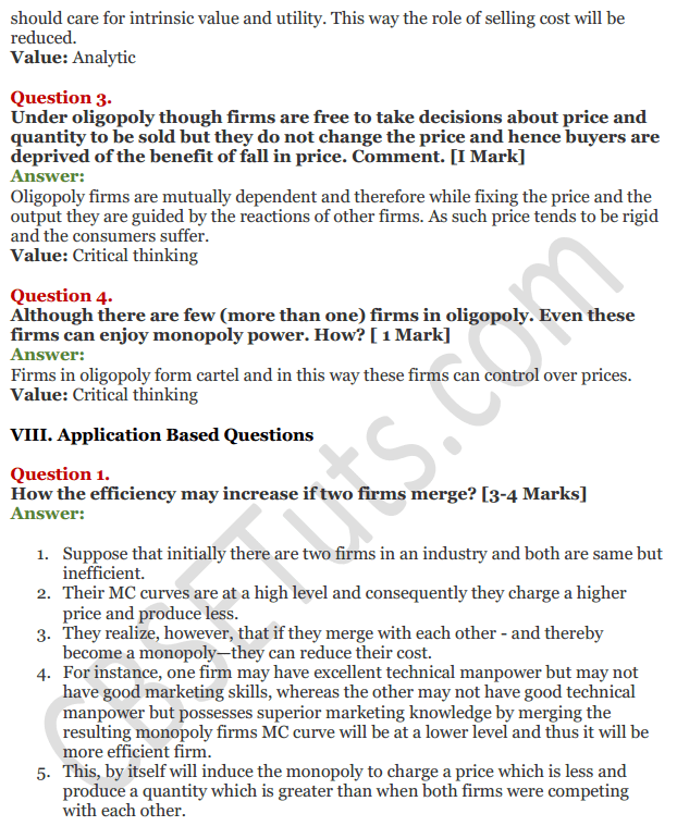 NCERT Solutions for Class 12 Micro Economics Chapter 11 Non-Competitive Market 28