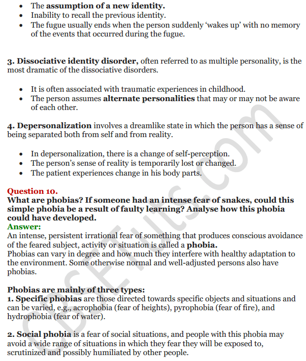 NCERT Solutions for Class 12 Psychology Chapter 4 Psychological Disorders 19
