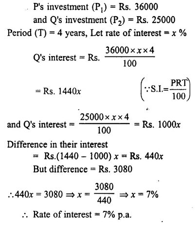 Selina Concise Mathematics Class 7 ICSE Solutions Chapter 10 Simple Interest 18