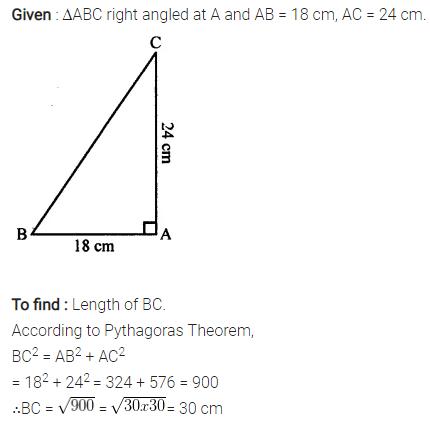 Selina Concise Mathematics Class 7 ICSE Solutions Chapter 16 Pythagoras Theorem 1