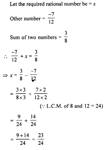 Selina Concise Mathematics Class 7 ICSE Solutions Chapter 2 Rational Numbers Ex 2C 72