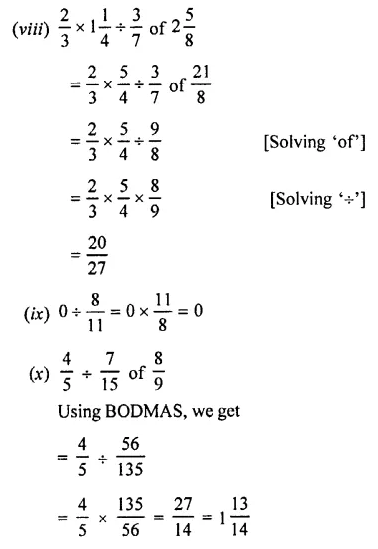 Selina Concise Mathematics Class 7 ICSE Solutions Chapter 3 Fractions (Including Problems) Ex 3C 42
