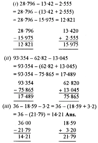 Selina Concise Mathematics Class 7 ICSE Solutions Chapter 4 Decimal Fractions (Decimals) Ex 4B 13