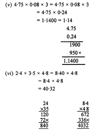 Selina Concise Mathematics Class 7 ICSE Solutions Chapter 4 Decimal Fractions (Decimals) Ex 4C 30