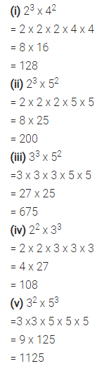 Selina Concise Mathematics Class 7 ICSE Solutions Chapter 5 Exponents (Including Laws of Exponents) Ex 5A 2