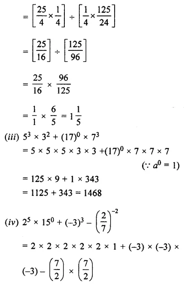 Selina Concise Mathematics Class 7 ICSE Solutions Chapter 5 Exponents (Including Laws of Exponents) Ex 5B 29