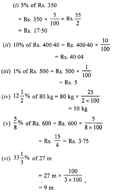 Selina Concise Mathematics Class 7 ICSE Solutions Chapter 7 Percent and Percentage Ex 8A 5