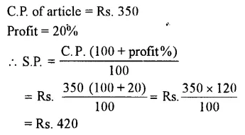 Selina Concise Mathematics Class 7 ICSE Solutions Chapter 9 Profit, Loss and Discount Ex 9A 6
