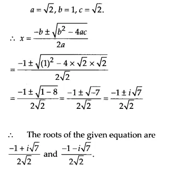 NCERT Solutions for Class 11 Maths Chapter 5 Complex Numbers and Quadratic Equations Ex 5.3 6