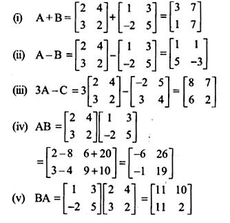 NCERT Solutions for Class 12 Maths Chapter 3 Matrices Ex 3.2 Q1.1