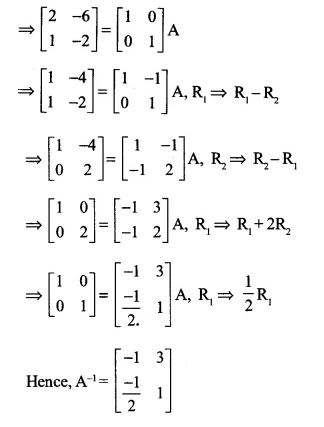 NCERT Solutions for Class 12 Maths Chapter 3 Matrices Ex 3.4 Q11.1