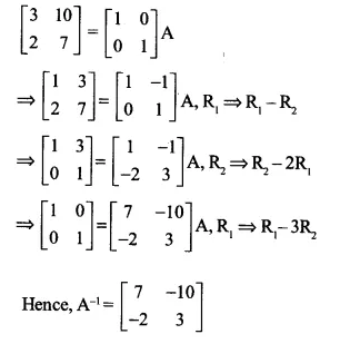 NCERT Solutions for Class 12 Maths Chapter 3 Matrices Ex 3.4 Q9.1