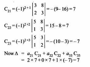 NCERT Solutions for Class 12 Maths Chapter 4 Determinants Ex 4.4 Q3.1