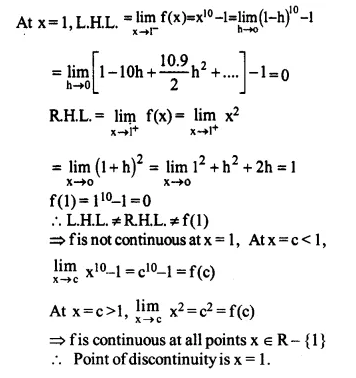 NCERT Solutions for Class 12 Maths Chapter 5 Continuity and Differentiability Ex 5.1 Q12.1