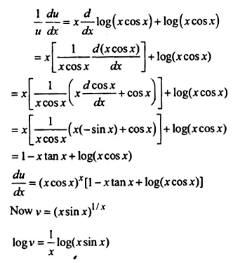NCERT Solutions for Class 12 Maths Chapter 5 Continuity and Differentiability Ex 5.5 Q11.1