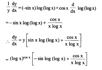 NCERT Solutions for Class 12 Maths Chapter 5 Continuity and Differentiability Ex 5.5 Q3.1