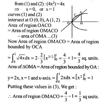 NCERT Solutions for Class 12 Maths Chapter 8 Application of Integrals Ex 8.2 Q7.1