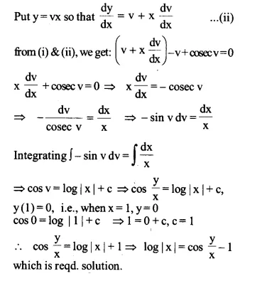 NCERT Solutions for Class 12 Maths Chapter 9 Differential Equations Ex 9.5 Q14.1
