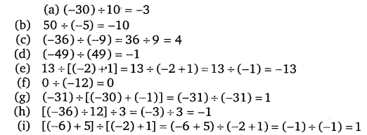 NCERT Solutions for Class 7 Maths Chapter 1 Integers 10