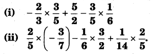NCERT Solutions for Class 8 Maths Chapter 1 Rational Numbers 1