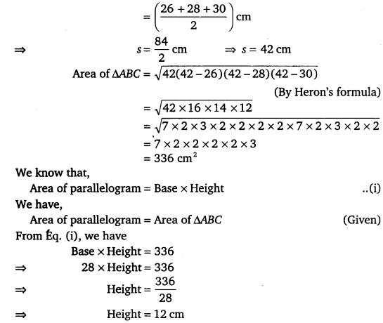 NCERT Solutions for Class 9 Maths Chapter 12 Heron's Formula Ex 12.2.8