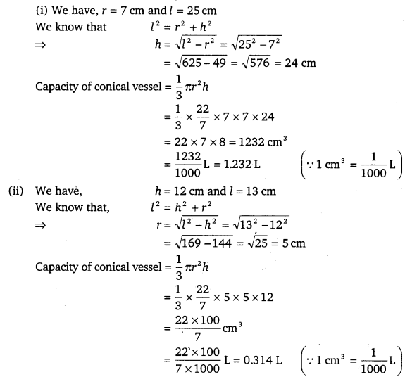 NCERT Solutions for Class 9 Maths Chapter 13 Surface Areas and Volumes Ex 13.7.2
