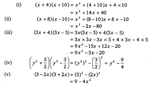 NCERT Solutions for Class 9 Maths Chapter 2 Polynomials Ex 2.5.1
