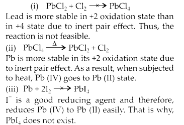 NCERT Solutions for Class 11 Chemistry Chapter 11 The p Block Elements 12