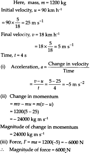 NCERT Solutions for Class 9 Science Chapter 9 Force and Laws of Motion 20