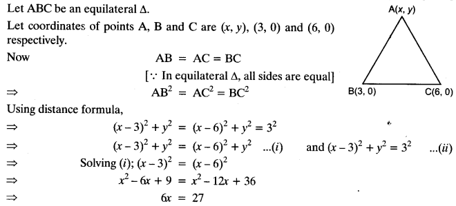 Coordinate Geometry Class 10 Maths CBSE Important Questions With Solutions 112